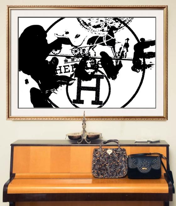 Hermes Black and WHite